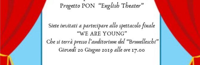 """Progetto PON """"English theatre""""."""